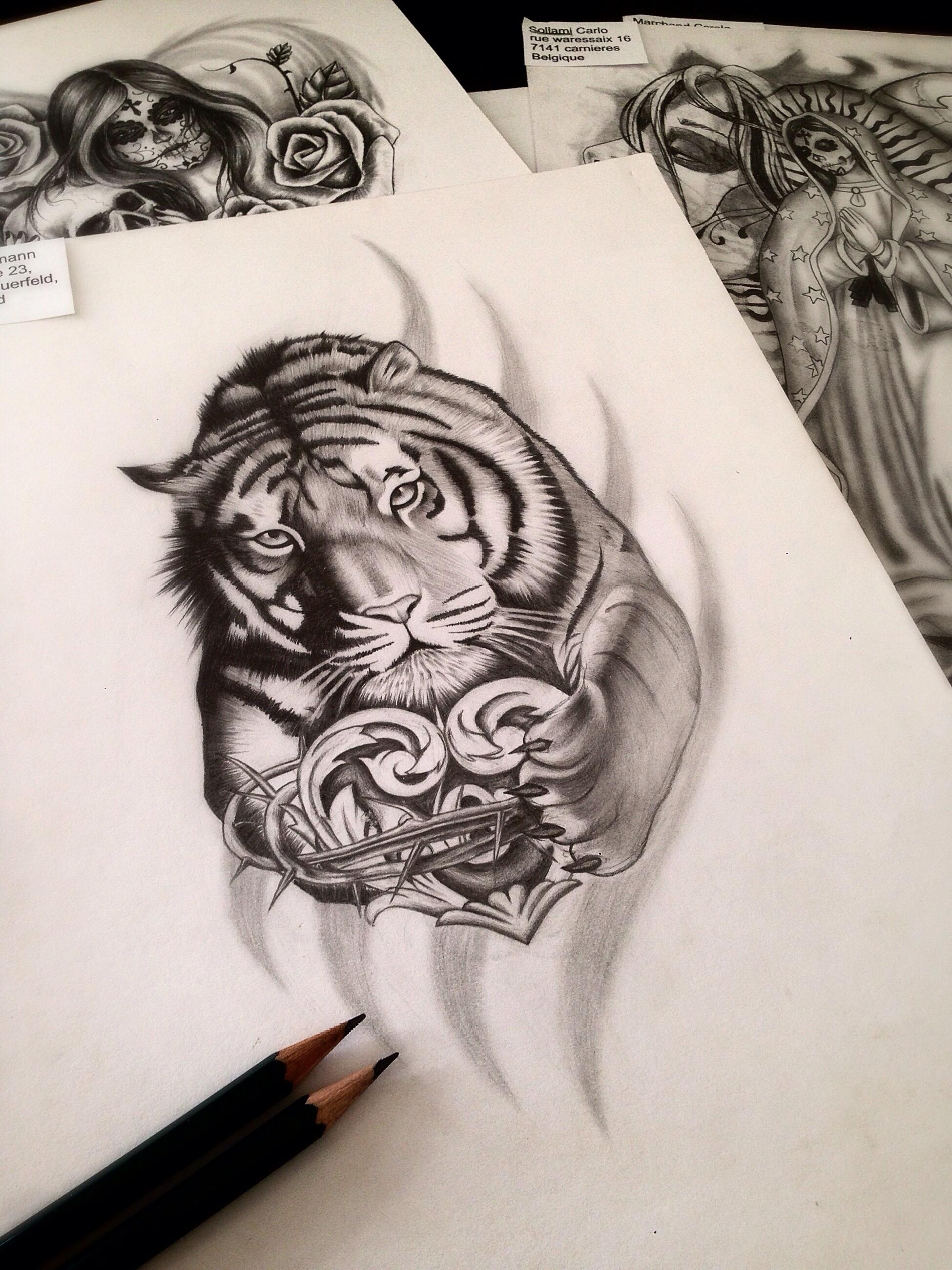Tigra Maingriz Tattoo Design