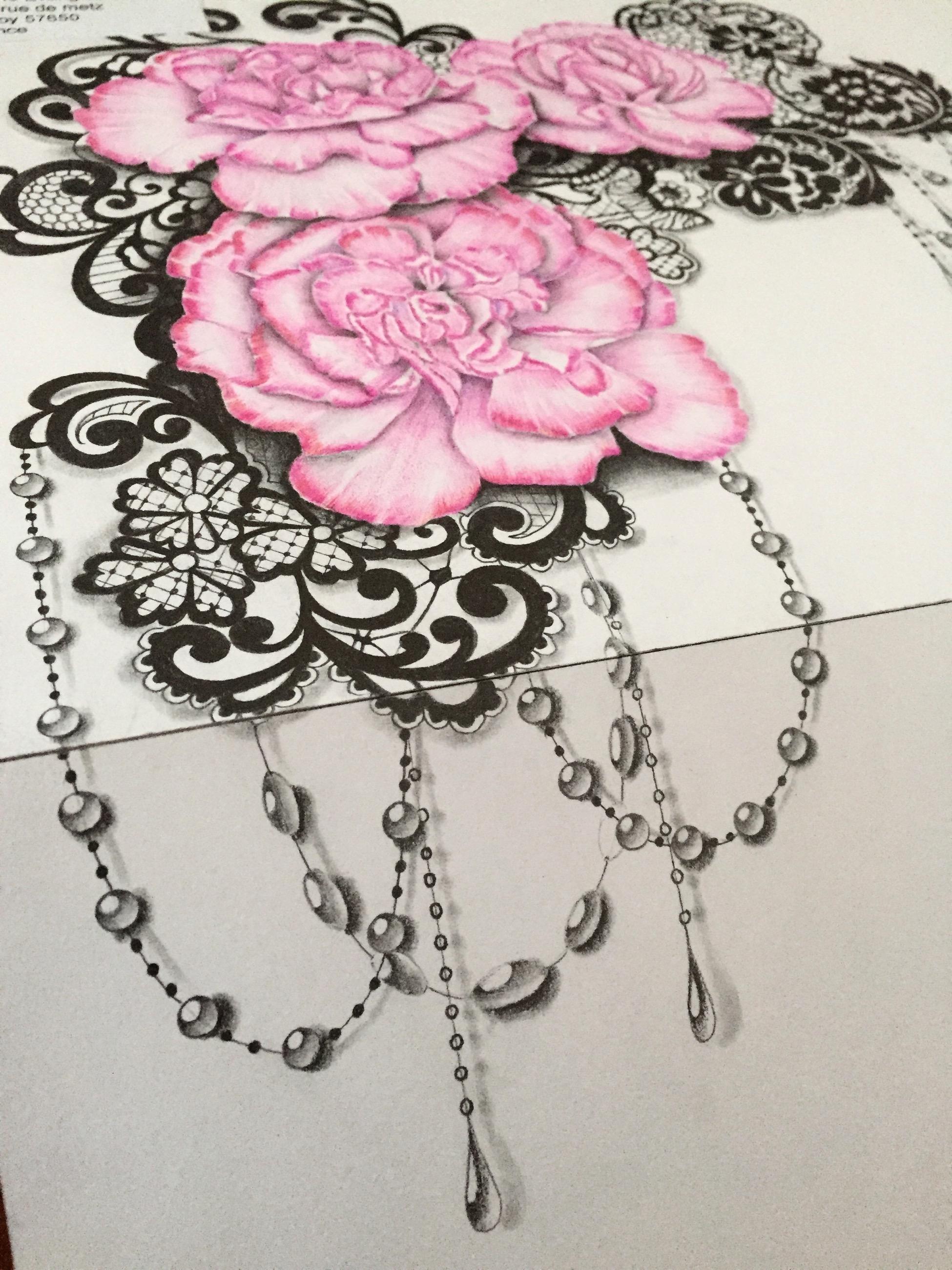 Fleurdentelle Maingriz Tattoo Design