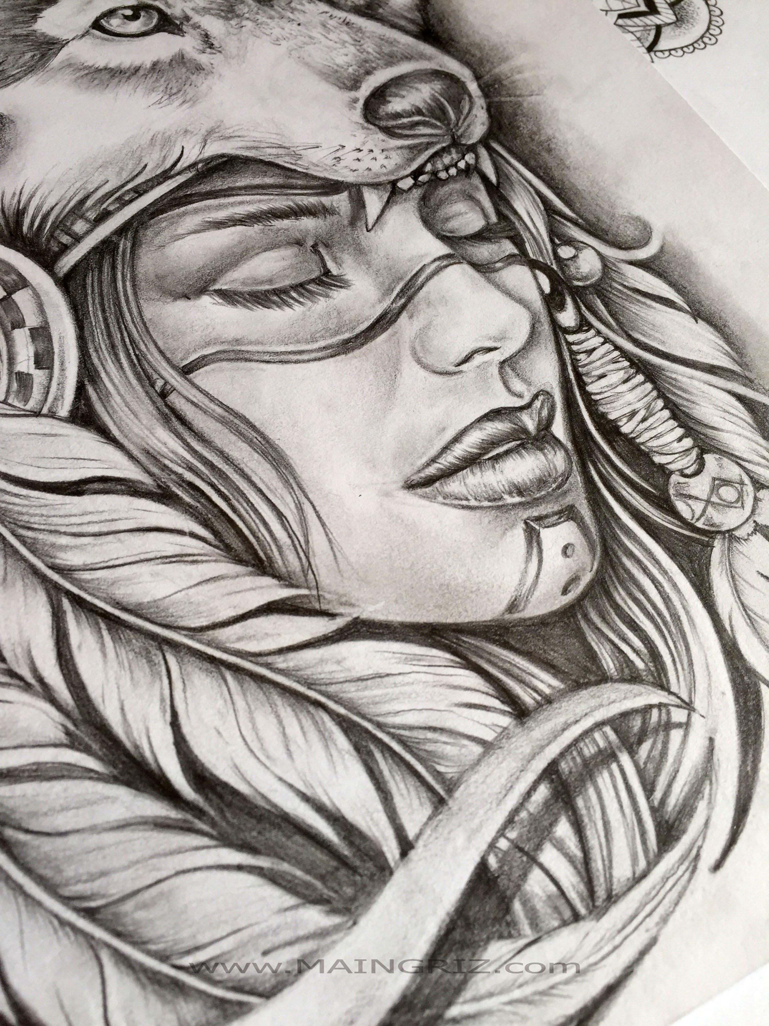 Tatouage dessin femme - Dessin tatouage femme ...