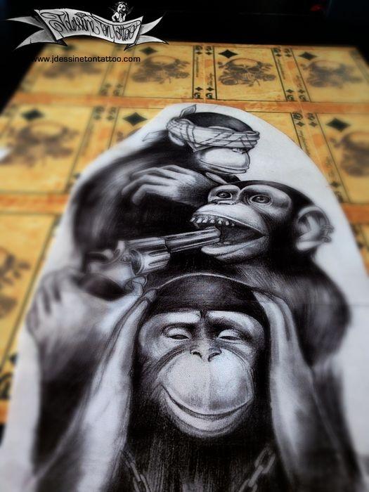 3 monkey gangsta maingriz. Black Bedroom Furniture Sets. Home Design Ideas